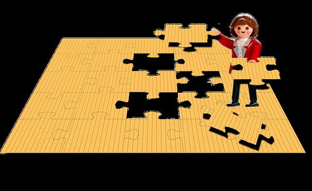 žluté puzzle